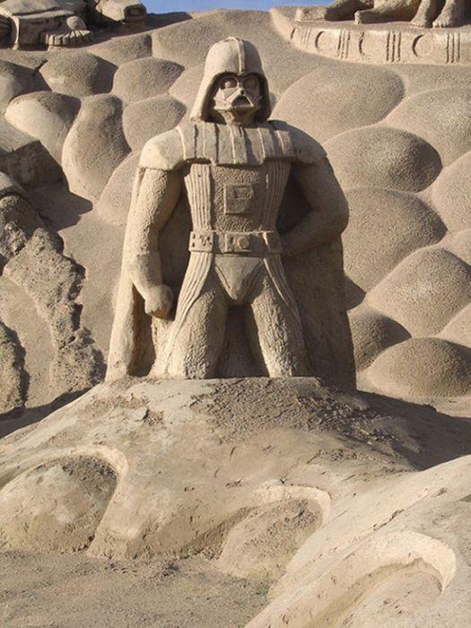 star wars sand sculptures sand sculptures pinterest sand