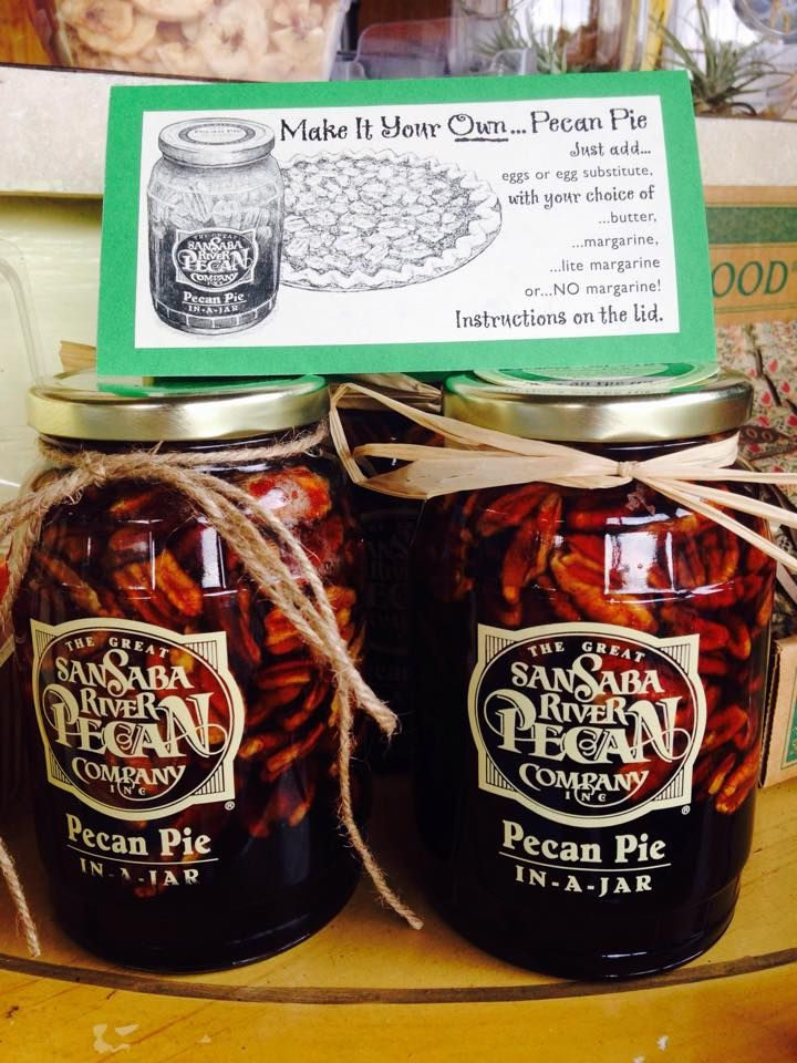 How is this for easy? Pecan Pie in a jar, all you need to add is egg/butter(optional) and pie crust!! Delicious! Stop by and pick up a jar this week!