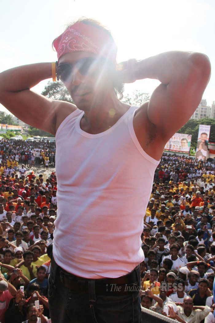 Arjun Rampal gearing up to break the matki. Bollywood
