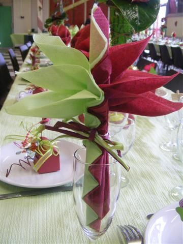 l 39 oiseau de feu fleur exotique pliage serviette pinterest napkins folding napkins and. Black Bedroom Furniture Sets. Home Design Ideas