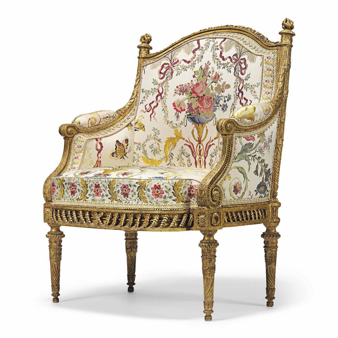 MARIE ANTOINETTE FAUTEUIL~ this armchair is the only known surviving  fauteuil en bergère from the most expensive suite of seat furniture ever  ordered by It ... - MARIE ANTOINETTE FAUTEUIL~ This Armchair Is The Only Known Surviving