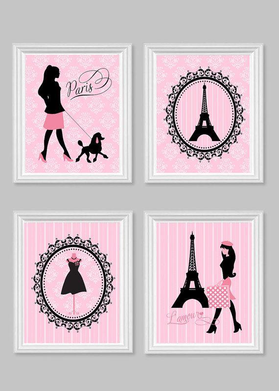 Paris Wall Decor, Parisian Art Prints, Eiffel Tower, Mannequin, French  Poodle,