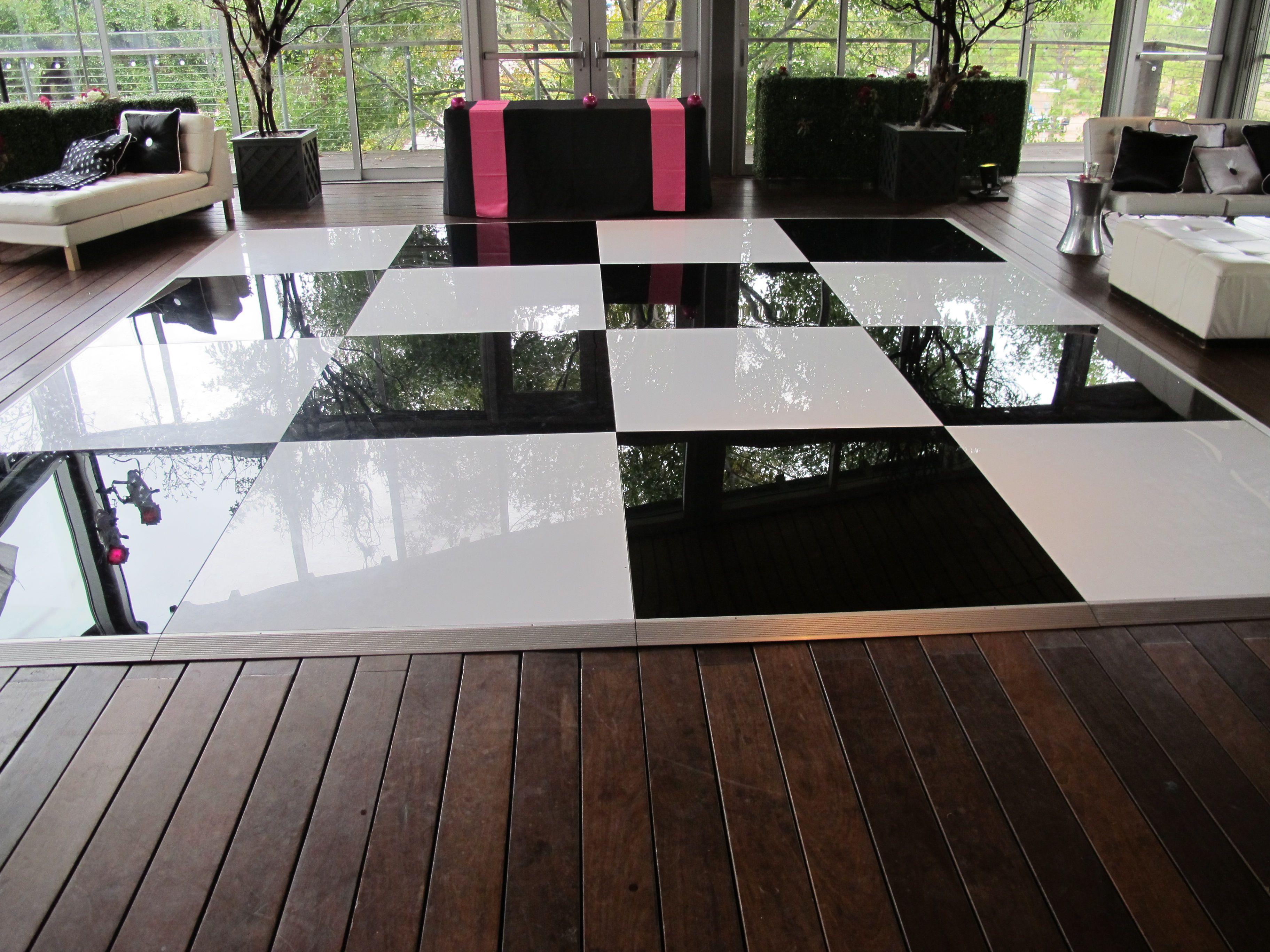 Black And White Dance Floor Dance Floor Flooring Led Dance