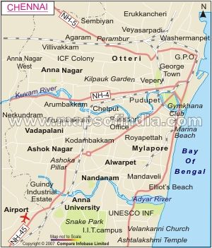 The Gateway to South India Chennai located along the Coromandel