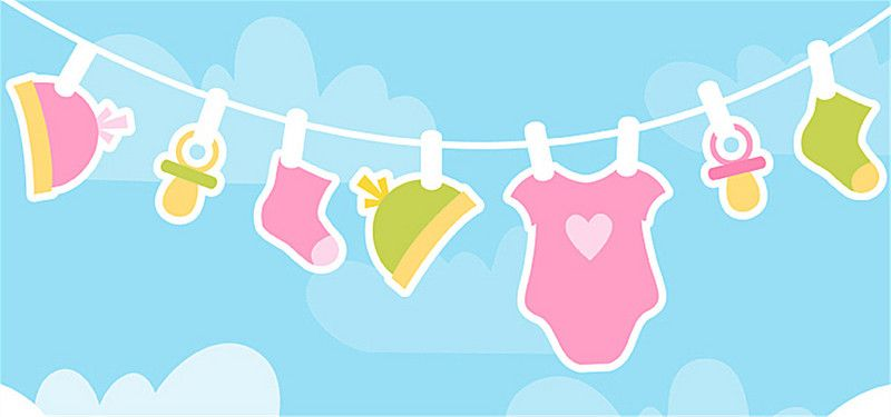 Cute Cartoon Baby Clothes Blue Background Blue Background Images Cartoon Clouds Baby Cartoon