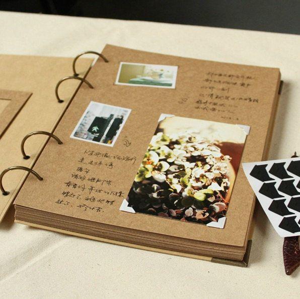 Bien-aimé A4 Ring Binder Photo Album 56 pages// Kraft Scrapbook Album  RO54