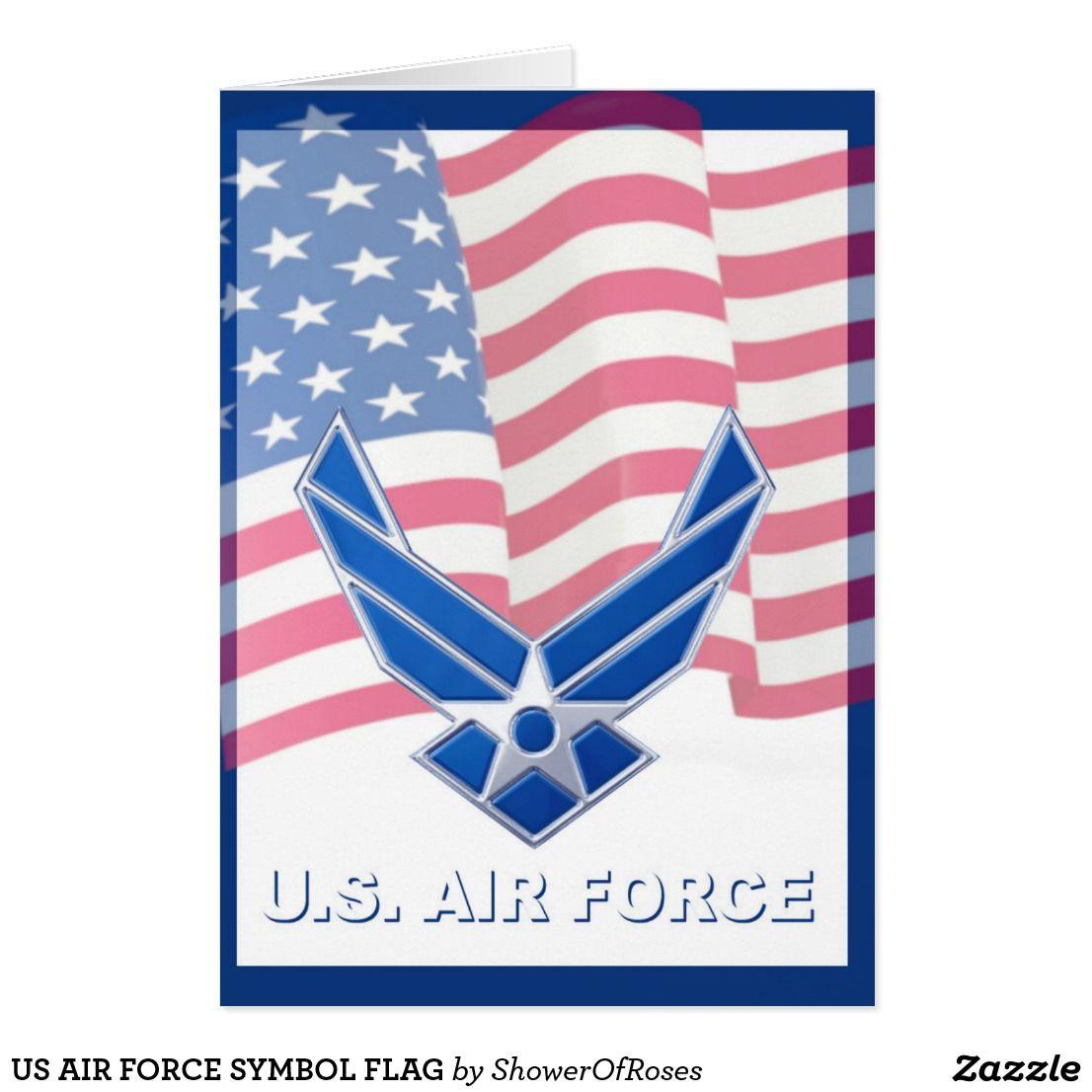 Us Air Force Symbol Flag Card Shower Of Roses Shoppe Catholic