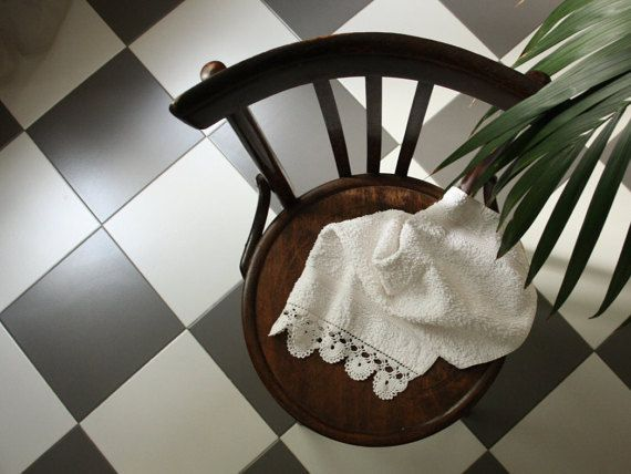 Bath towel with crochet border elegant home decor italian style