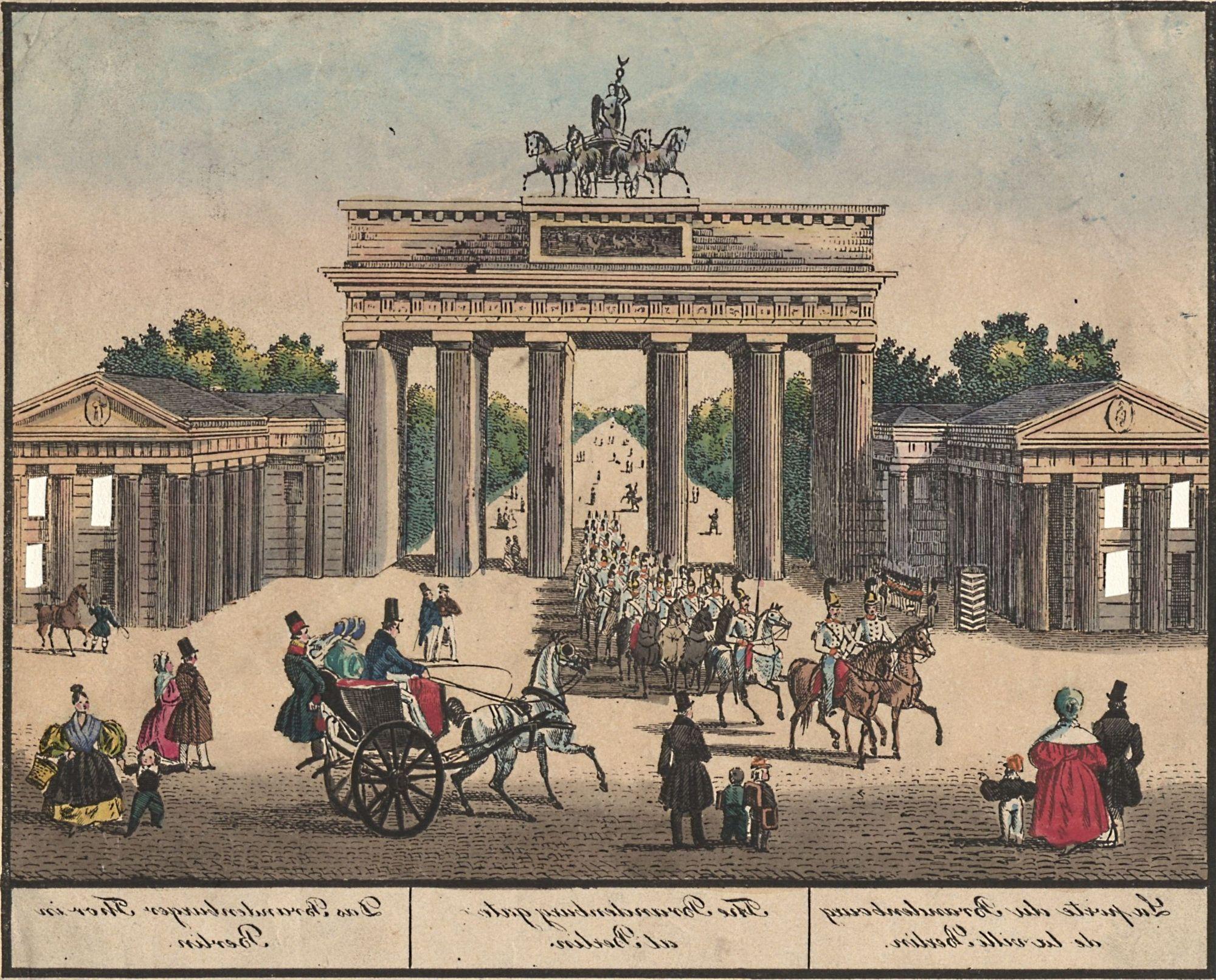 Berlin Brandenburger Tor Circa 1800 Deutsche Geschichte Geschichte Historisch
