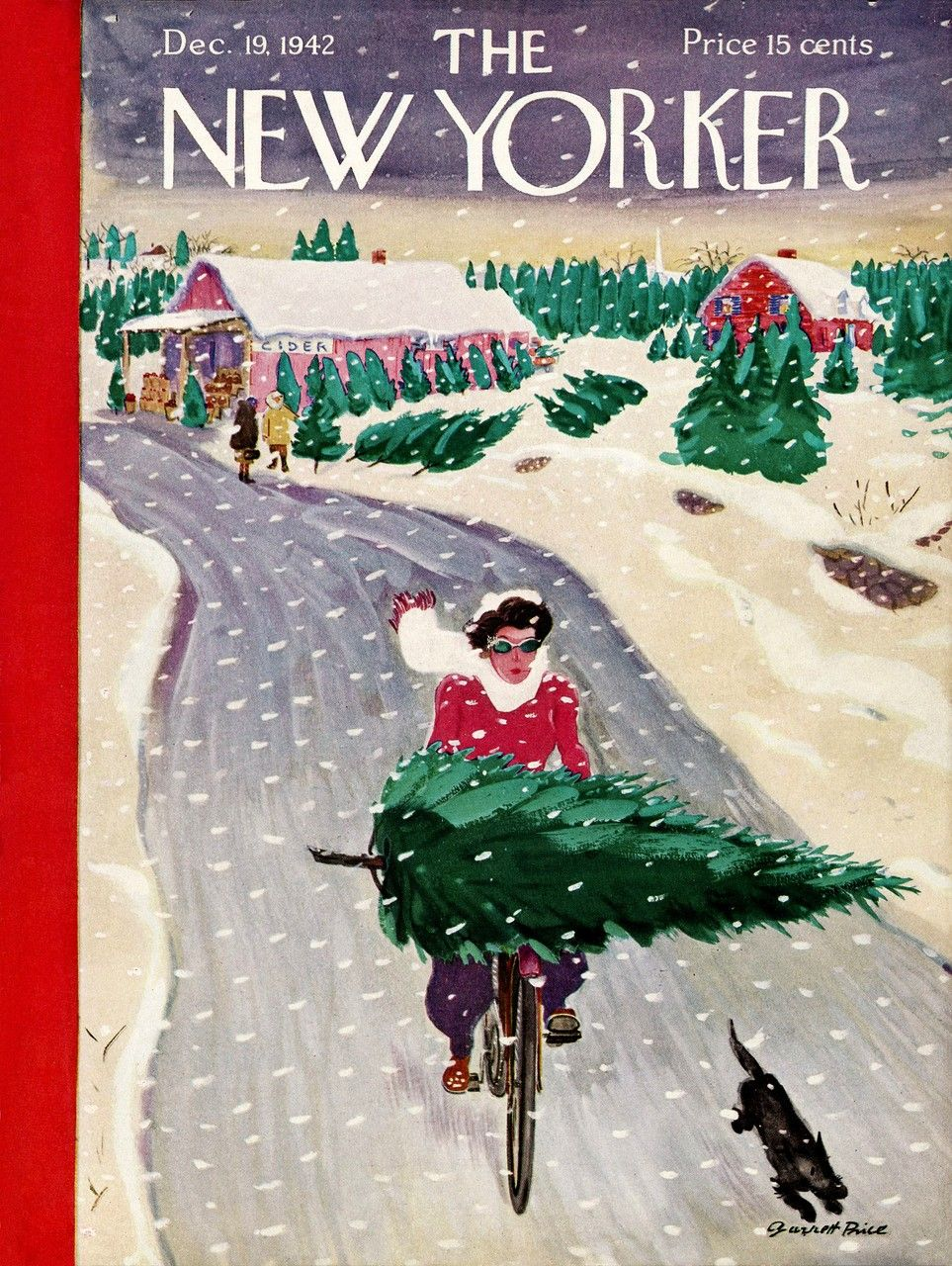 York Puzzle Company  Tree Shopping Jigsaw Puzzle  New York Puzzle Company  Tree Shopping Jigsaw Puzzle  The New Yorker Cover  December 26 1953 Poster Print by Ilonka Kara...