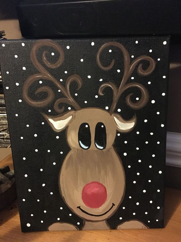 Paintings To Try Kidswoodcrafts Christmas Canvas