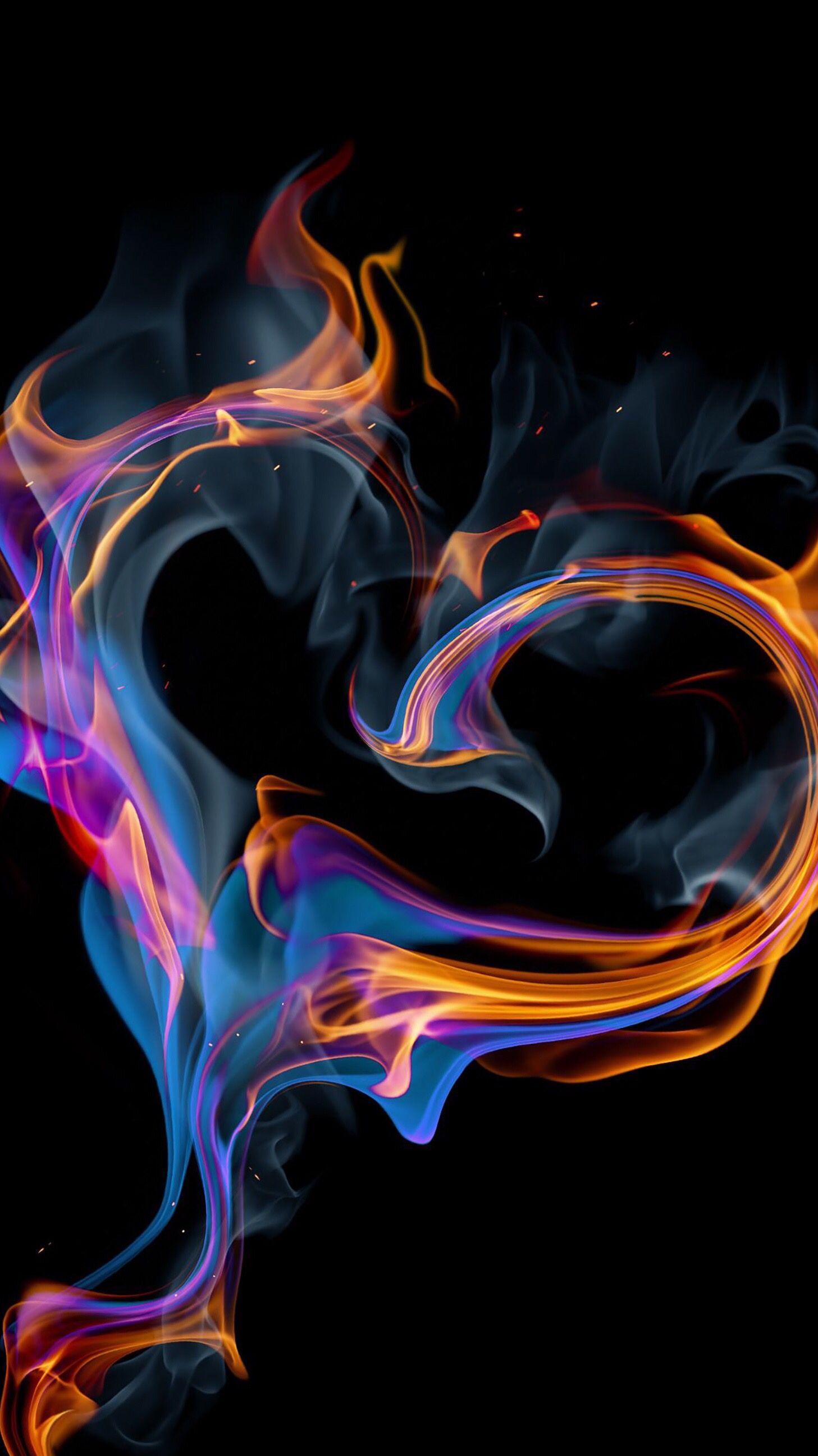 Hot Background Fire Heart Heart Wallpaper Fire Art