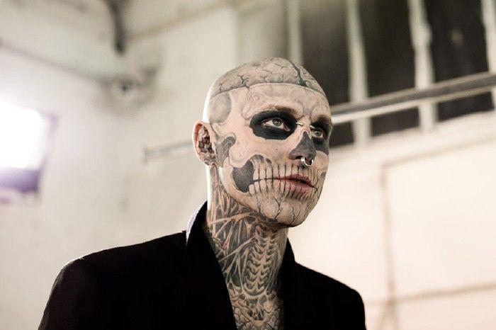 Mugler Menswear A W11 Rick Genest Skull Zombie
