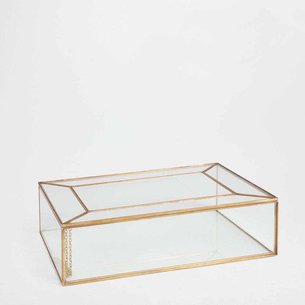 Raised-design glass and metal box | Accessories | Pinterest ...