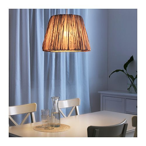 HEMSTA Lampeskærm - beige, 45 cm - IKEA