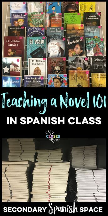 Teaching a Novel 101 The idea of teaching your first novel in Spanish class can be pretty scary. It was a big change of mentality from the... #spanishthings