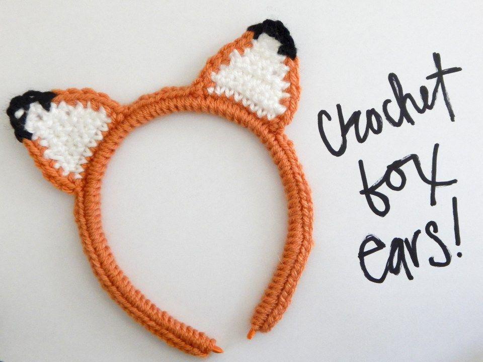 Crochet Fox Ear Headband (Make, Create and Appreciate!!) | Ganchillo ...