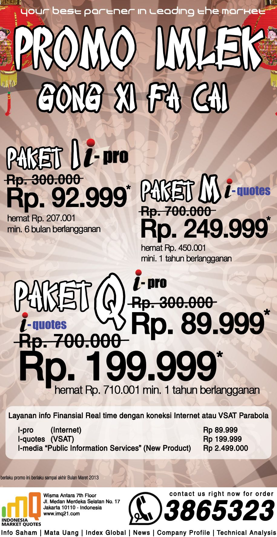 promo imlek newspaper ad imq product layout template pinterest