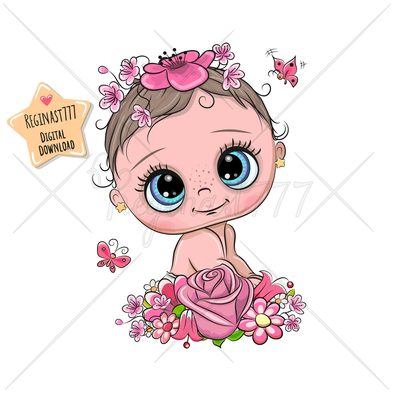 Cute Baby Clipart Png Baby Clip Art Girl Digital Download Etsy In 2021 Baby Clip Art Baby Clips Clip Art