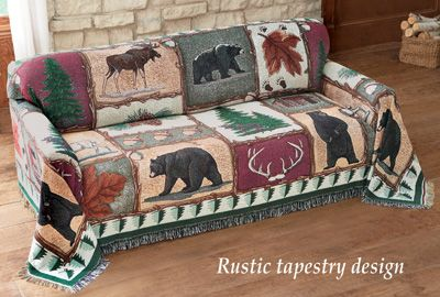 Swell Northwoods Bear Tapestry Furniture Cover Cabin Decor Pabps2019 Chair Design Images Pabps2019Com