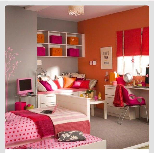 Hot Pink And Orange Room