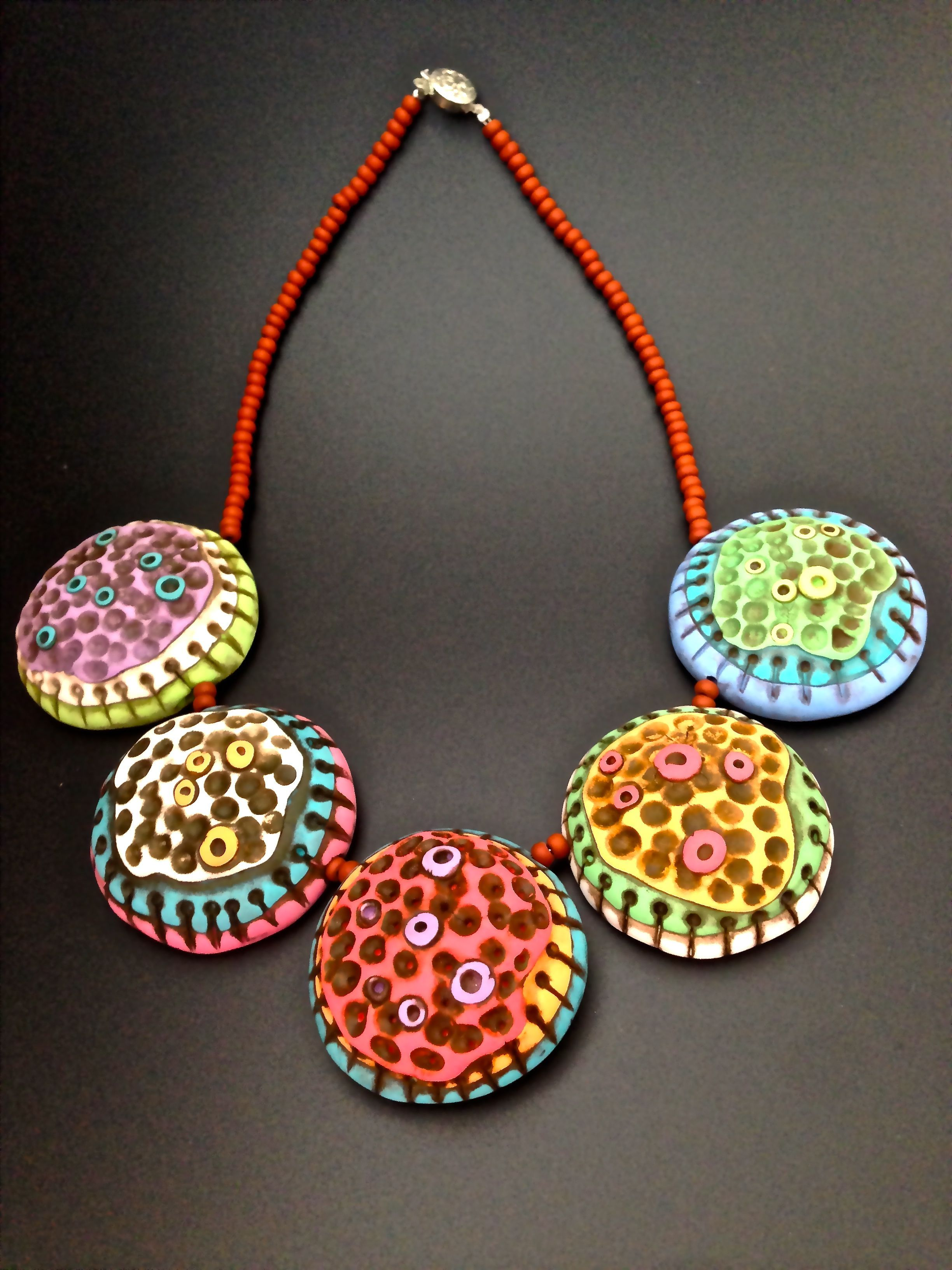 Pluffy Color Dandelion Necklace - awesome necklace on Polyform's website....Made by Natalia Garcia de Leaniz.  Beautiful!  Thanks to @Jackie Godbold Godbold Godbold Watts for letting me know about it!