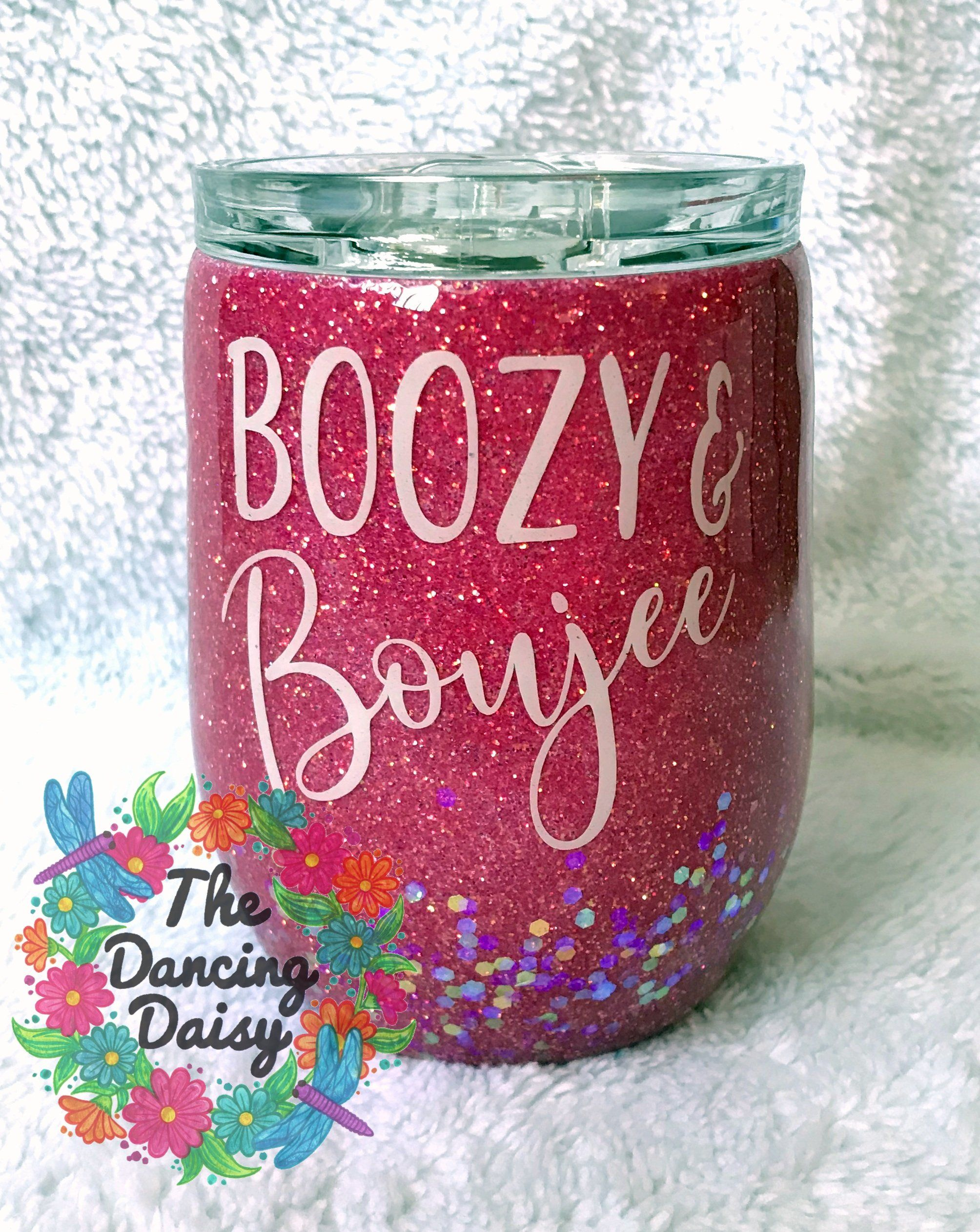 Boozy And Boujee 12 Oz Stemless Wine Glass Tumbler Acryliccrafts Customwork Thedancingdaisy Acrylic Custom Tumbler Cups Tumbler Cups Diy Custom Tumblers