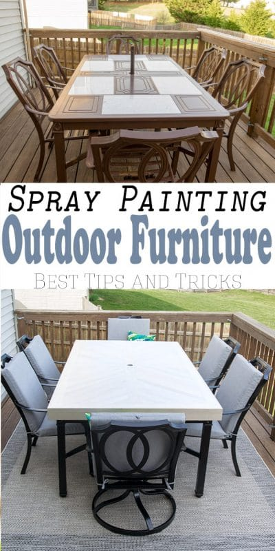 Outdoor Furniture Makeover, What Is The Best Spray Paint To Use On Outdoor Wood Furniture
