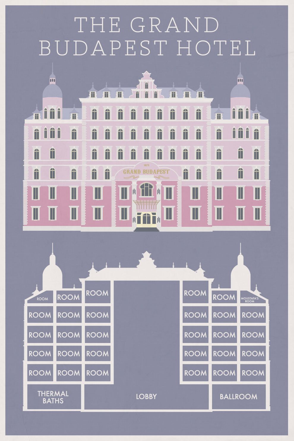 mini st posters of wes anderson houses grand budapest hotel  mini st posters of wes anderson houses grand budapest hotel