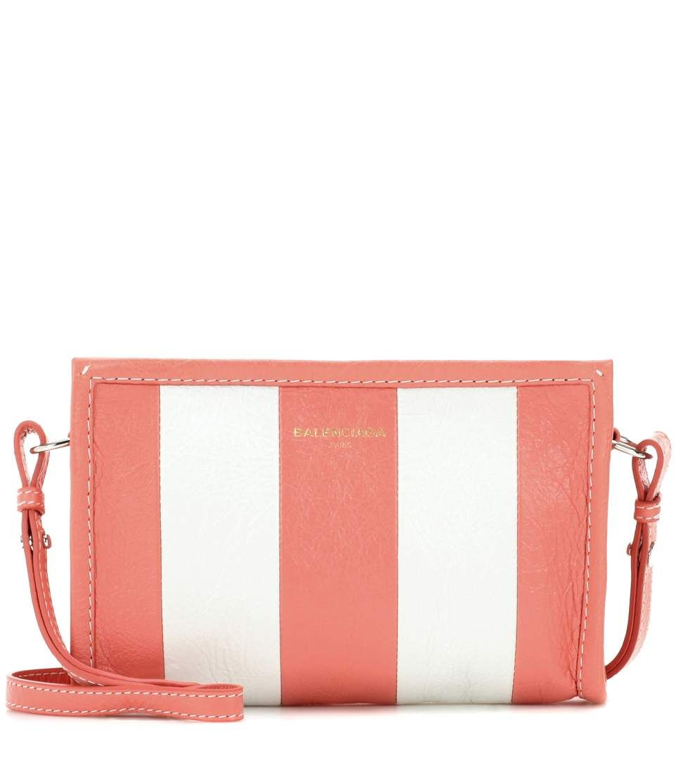 Bazar Printed Textured-leather Wallet - Pink Balenciaga UudOvJN