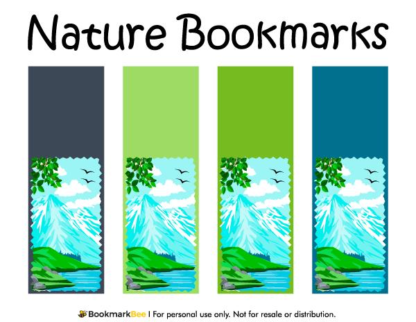 Printable Nature Bookmarks Nature Bookmarks Free Printable Bookmarks Templates Bookmarks