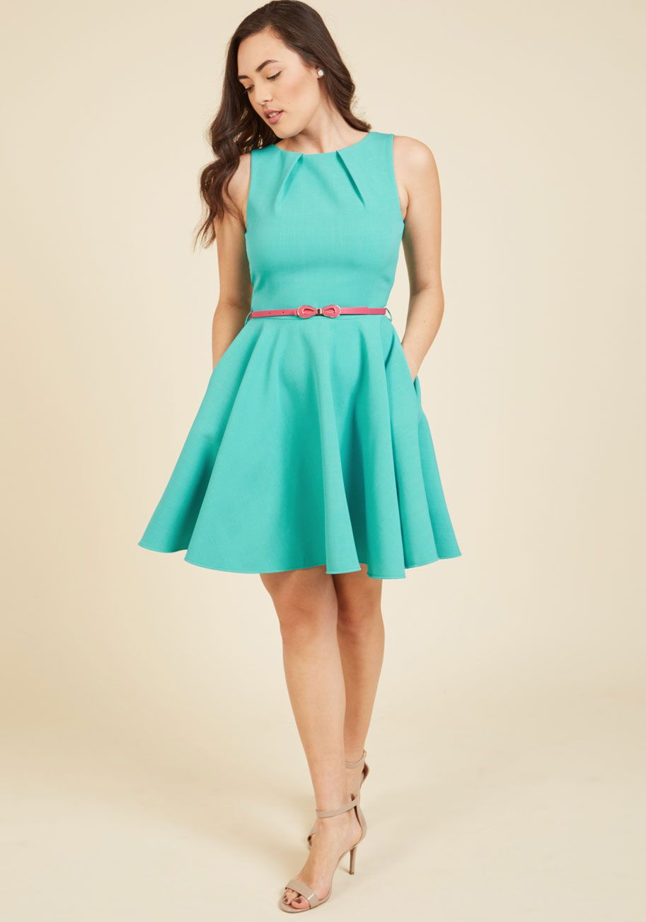 Closet London Luck Be A Lady ALine Dress in Robin's Egg