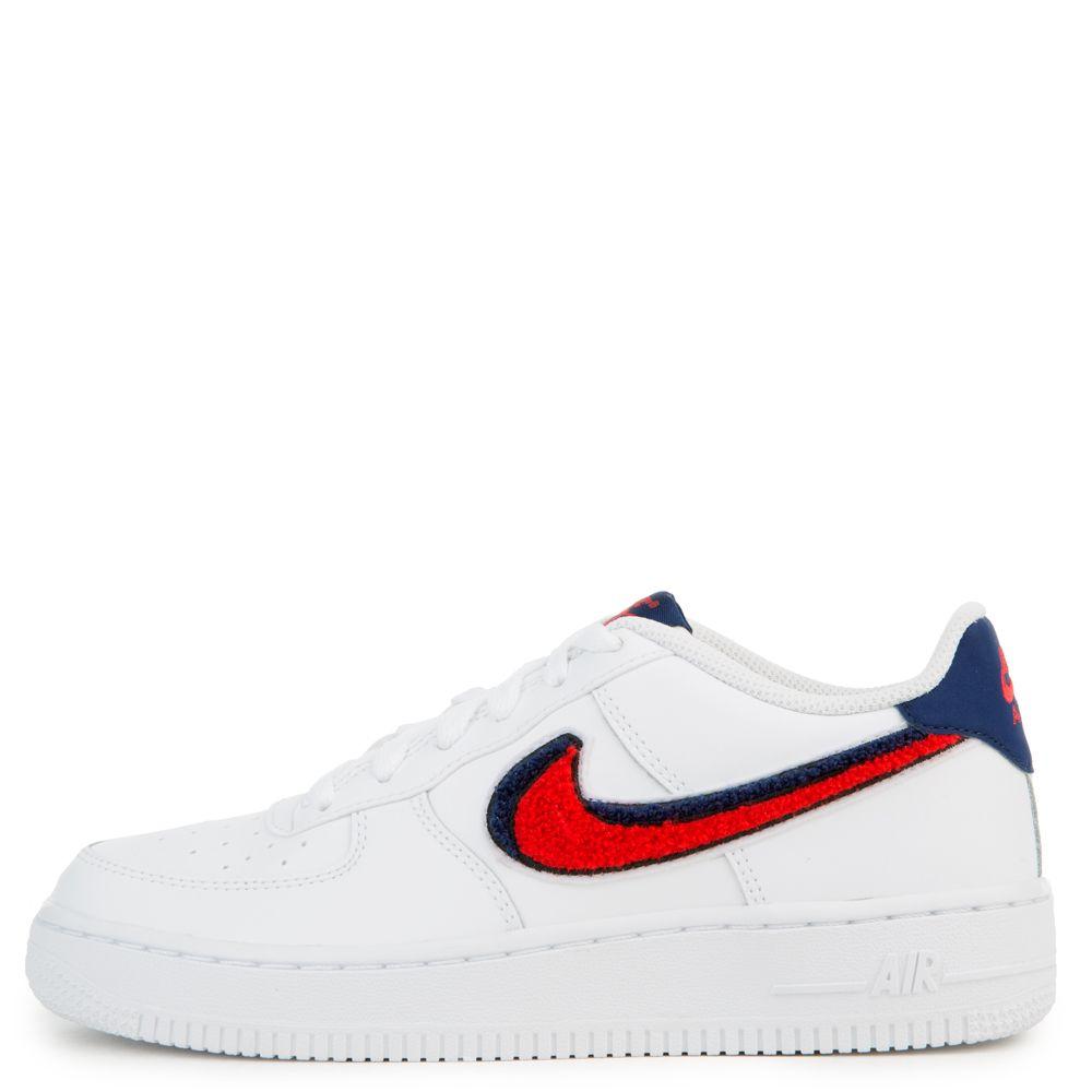 Nike Grade School Nike Air Force 1 Lv8 White University Red Blue