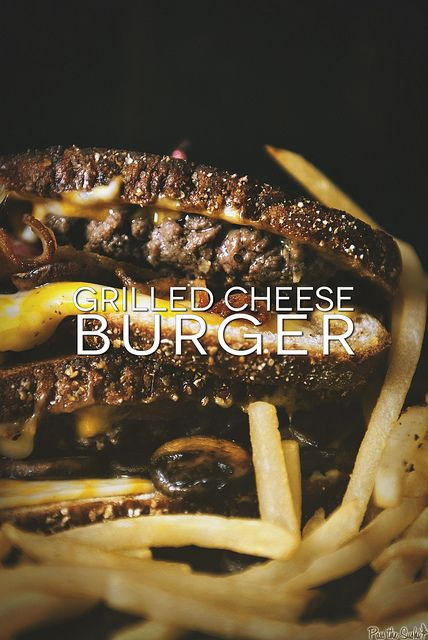 Update your comfort food! Grilled Cheese Burger Recipe ...