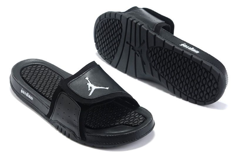 859681835 men shoes NIKE AIR JORDAN HYDRO 2 Slide Sandals black silver size 7   10  new  Jordan  Slides