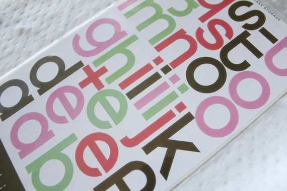 runway remarks letter stickers - $1.50