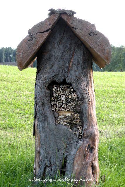 ein schweizer garten wildbienenhotel f r den garten pinterest garten insektenhotel und. Black Bedroom Furniture Sets. Home Design Ideas