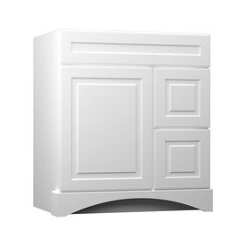 Best Kraftmaid Summerfield North Bay White Casual Bathroom 400 x 300