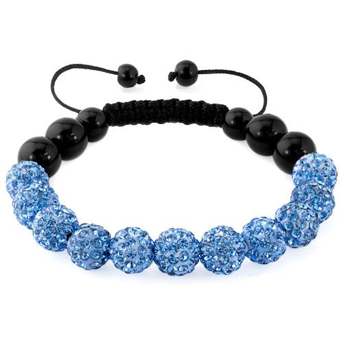 Bracelets Aquamarine Blue Shamballa Bracelet Swarovski Crystal Cz Stone Disco Balls Beaded Bracelets Image White Bracelets Beaded Bracelets Crystal Bracelets