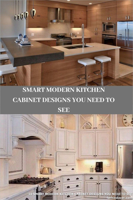 10 Smart Modern Kitchen Cabinet Designs You Need To See In 2020 Modern Kitchen Cabinet Design Modern Kitchen Cabinets Kitchen Cabinet Design