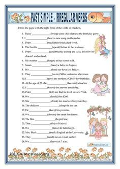 PAST SIMPLE - IRREGULAR VERBS | FREE ESL worksheets | Grammar ...