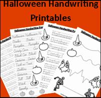 homeschooling freebies halloween handwriting printables halloween themed therapy activities. Black Bedroom Furniture Sets. Home Design Ideas