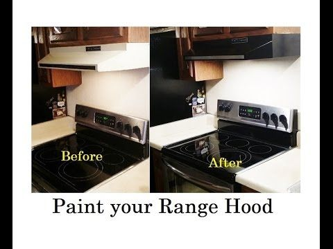 How To Paint Your Motor Home Stove Range Or Vent Hood.   YouTube