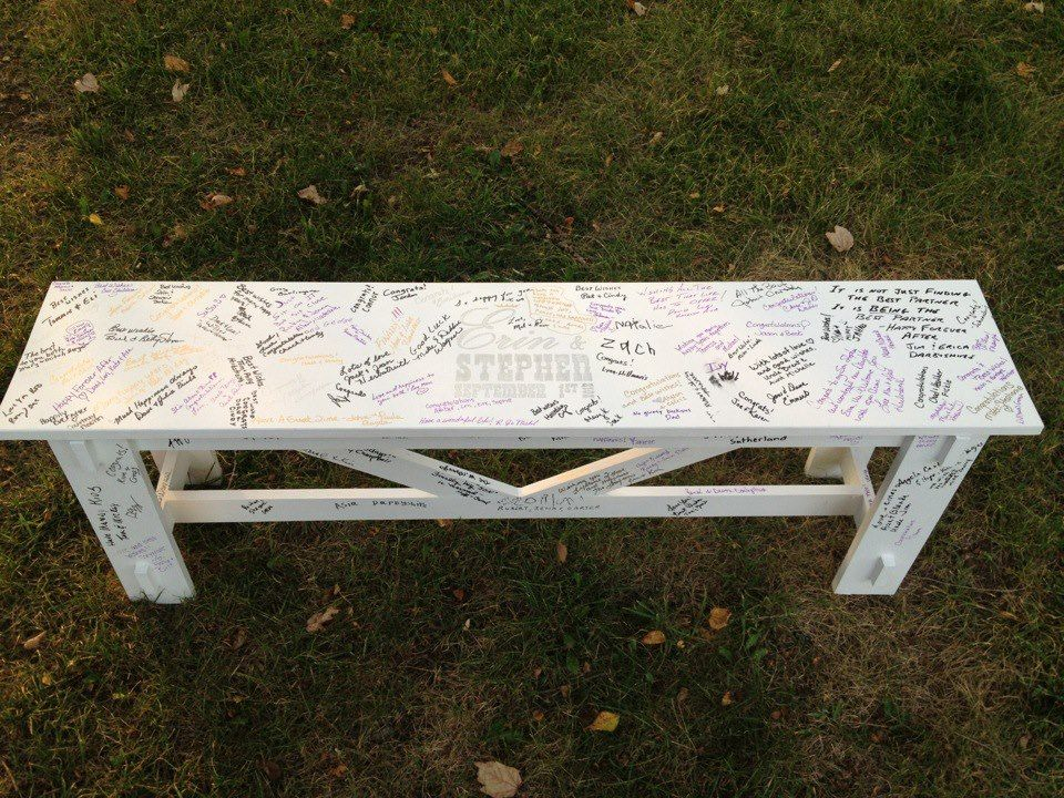 Wedding guest bench wedding bench guestbook do it yourself home wedding guest bench wedding bench guestbook do it yourself home projects from ana white solutioingenieria