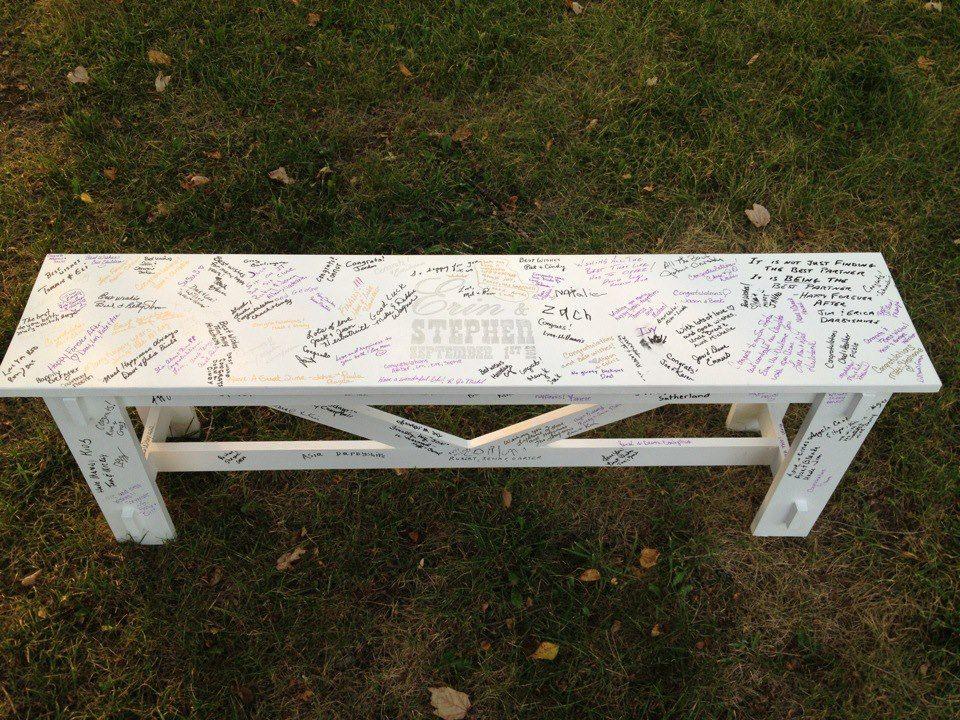 Wedding guest bench wedding bench guestbook do it yourself wedding guest bench wedding bench guestbook do it yourself home projects from ana white solutioingenieria Choice Image