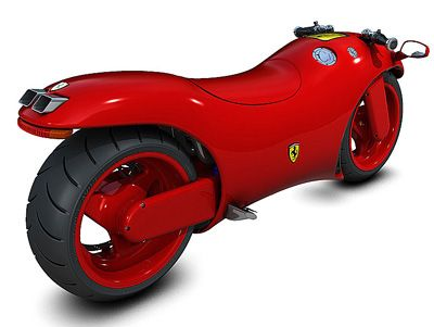 Truly one of a kind - the Ferrari V4 motorbike, with V4 engine, a ...