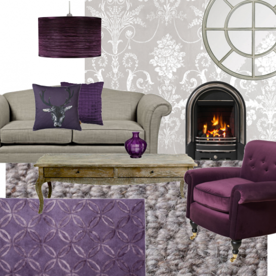 Grey And Purple Living Room gray and beige livingroom | gorgeous grey and berry living room