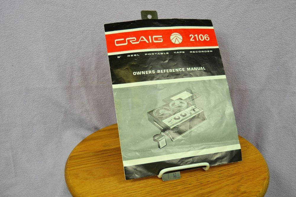 craig 2106 5 reel portable tape recorder owners reference manual rh pinterest com craig portable speaker cma3609 manual craig portable dvd player manual
