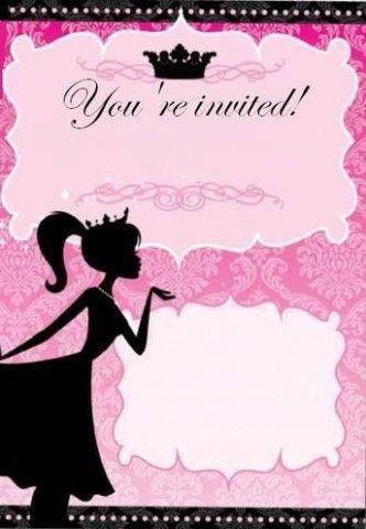 14 barbie invitation template blank