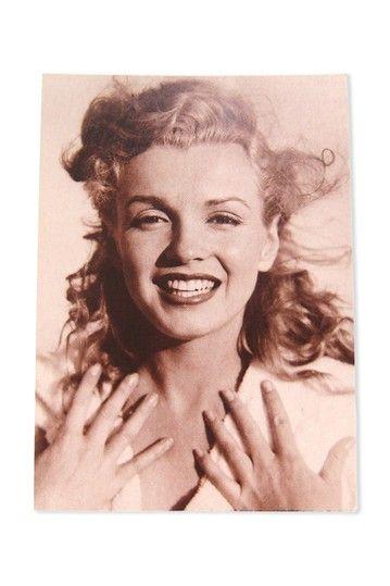 Marilyn Monroe postcard.